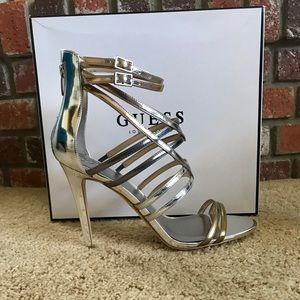 GUESS Silver/Gold Tone Heels